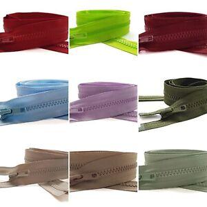 YKK NO.5, Vislon (Plastic) Zip, 91cm Open Ended, 29 Colour Options