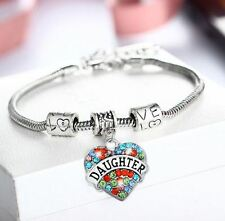 Beautiful Daughter Woman Girl Bracelet Heart Charm Snake Bracelet