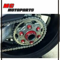 Racing Red CNC Rear Sprocket Nuts 6pcs For Yamaha MT-07 14-17 14 15 16 17 18