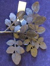 Vintage Millinery Flower Leaf Bunch Dainty Layered for Hat + Hair Black Ku5