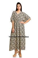 Kaftan Abaya Floral Islamic Muslim Cocktail Women Long Sleeve Vintage Gown Dress