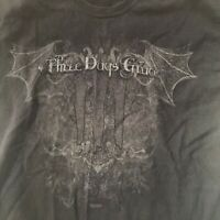 Three Days Grace Shirt Black L XL Cotton Front & Back Graphics Wings Life Starts