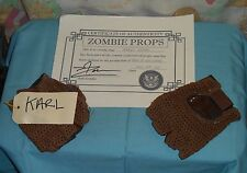 original HOUSE OF 1000 CORPSES -- KARL'S GLOVES screen-used movie prop w/COA