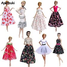 Fashion 1/6 Doll Clothes For Barbie Doll Outfits Floral Party Dress Midi Skirt