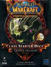 New Sealed Class Starter Deck Tauren Paladin Horde World of Warcraft WoW TCG
