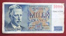 Belgique - Joli billet de  1000  Francs  du  12-12-1957