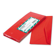 Quality Park Colored Envelope, Traditional, #10, Red, 25 per Pack (11134)