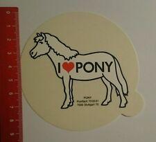 Aufkleber/Sticker: i love Pony Stuttgart (07081614)