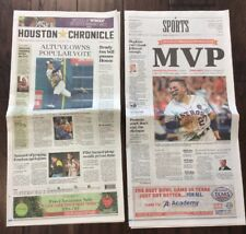 🔥Jose Altuve 🏆AL MVP Houston Chronicle 11/17/17 Astros Newspaper World Series