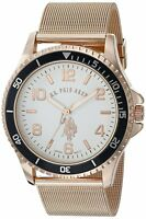 U.S. Polo Assn. Classic Mens Quartz Metal and Alloy Watch, Color:Rose Gold-Toned
