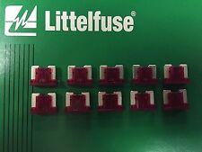 Set of 10: Genuine LittelFuse Automotive Low Profile Micro Mini Fuse 10 Amp