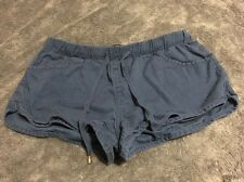 FOREVER 21 BLUE FABRIC SHORTS SIZE L Fake Zipper Front Pockets Summer Spring