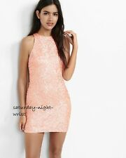 NWT SOLDOUT EXPRESS pink sequin CRUISE VACATION cutout dress 4 s small