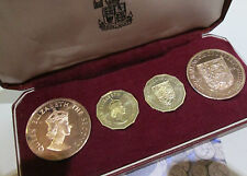 4 COIN Commemorative Proof Coin Set Jersey 1964 2 X 1 PENNY 2 X THRUPNEY Cc1