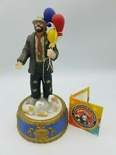 Emmitt Kelly Jr Musical Figurine Balloon Man Music Box My Favorite Things Nice