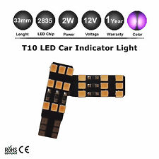 2 x SUPER PURPLE LED PARK PLATE LED CAR BIKE T10 W5W 2835 SMD Lights Bulb globe