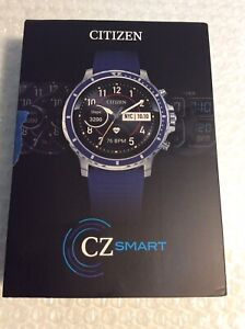 Citizen CZ Smart 46mm Smart Watch- Blue Silicon Stainless Steel GoogleWear OS