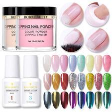 10ml BORN PRETTY Dipping Powder Glitter Dip Liquid NO UV Lamp Pro Starter Kit