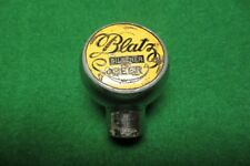 Blatz Pilsener Beer round chrome tap knob tapper antique beer tap