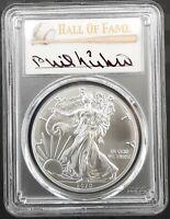 2020 $1 American Silver Eagle 1oz coin PCGS MS70 FDOI Phil Niekro