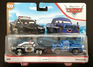 Disney Pixar Cars APB Police & Broadside Mattel Die-cast 2 Pack Demolition Derby