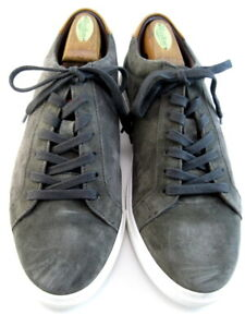 """NEW Allen Edmonds """"COURTSIDE"""" Men's Suede Sneakers 10 D Grey  (561)"""
