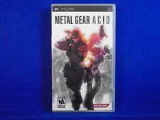 psp METAL GEAR ACID Game NTSC An Action Strategy Game Playstation REGION FREE