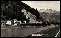 Erl Tirol s/w Postkarte 1967 gelaufen Gasthof Zollhaus am Inn mit Kaisergebirge
