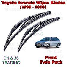 "(98-03) Toyota Avensis MK1 Front Wiper Blades Windscreen 21""18"" Hook Type Wipers"