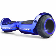 """Blue 6.5"""" Bluetooth Hoverboard Electric Self Balancing Scooter SGS Certified LED"""