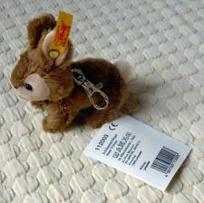 Steiff Authentic Stuffed Rabbit On A Keychain, New With Tags