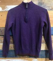 Robert Graham Charcoal Wool 1/4 Zip Fine Knit Sweater Mens Sz M