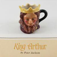 Franklin Mint Vintage Miniature King Arthur Figurine Signed 1983 Toby Jug