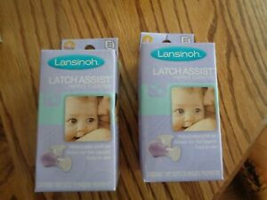 Qty 2 Lansinoh Latch Assist Nipple Everter BPA Free  Includes (19mm and 24mm)