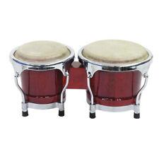 DIMAVERY BG-45 Bongo 4+ 5 Wine Red Colour Drum Musician Practice Percussion