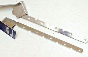 Roca Stainless Steel Clothing Folding Hooks (Pair) display or sorting