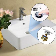 2x Universal Wash Basin Bounce Drain Filter Pop Up Bathroom Sink Drain Plugs