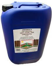 More details for 20l dark brown genuine creosote 100% coal tar for professional trade use only