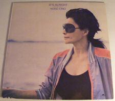 YOKO ONO It's Alright - It's OK N/Mint Polydor 1982 UK LP