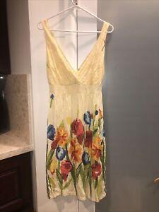 Jams World Tropicana Colorful Floral Sleeveless Dress Size XS 100% Rayon