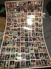 1993 Fleer Baseball Uncut Sheet - 120 Cards - Nice - See Pics - Tube Shipped