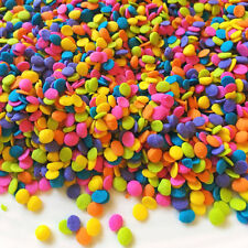 Edible Confetti Sprinkles Cookie Cake Cupcake NEON QUINS 8 oz.