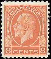 Mint H Canada 1932 F-VF Scott #200 8c King George V Medallion Issue Stamp
