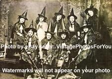 Old/Vintage 1800-1900s 9 Young School Witches Odd/Creepy/Weird Halloween Photo