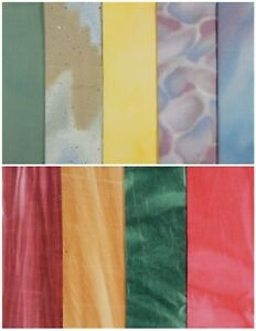 Vtg OOP Fat Quarter Bundle ~ 8 FQs + 1 Lg Pc Cotton Quilt Fabric Art Crafts +