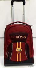 Roma A.S trolley scuola -zaino con rotelle-prodotto ufficiale