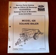 New Holland 426 Square Baler Service Parts Catalog Manual 1989 FREE SHIPPING