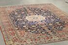authentic antique luxury pers-ian nain rug tribal hand knot wool  11.2 x 8.1 Ft