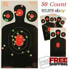 Targets Shooting Accessories 50 Pack 18x10 Silhouette Splatter Multi Color Hole