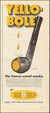 1950 Vintage ad for Yello-Bole Honey-Cured Smoke Pipe retro Yellow  (062917)